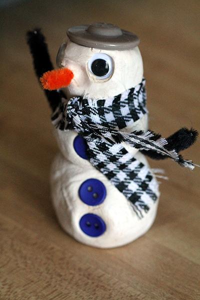 clay snowman 2