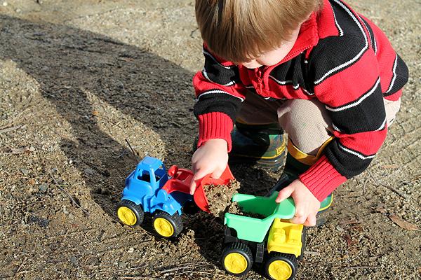 trucks in the mud