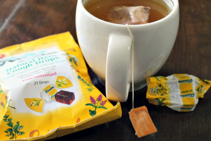 tea and cough drops