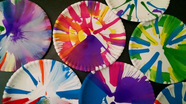 spin art at the library